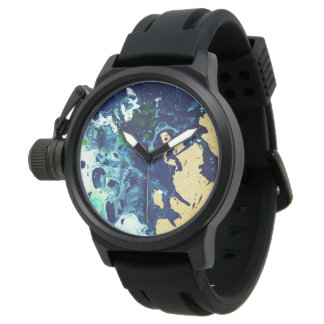 custom-made watch with a abstract artwork