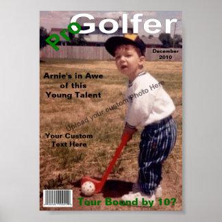 Custom Magazine Cover, Pro Golfer Poster