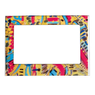 custom Magnetic Frames with abstract designs.