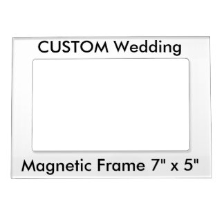 """Custom Magnetic Refrigerator Photo Frame 7"""" x 5"""" Magnetic Picture Frame"""