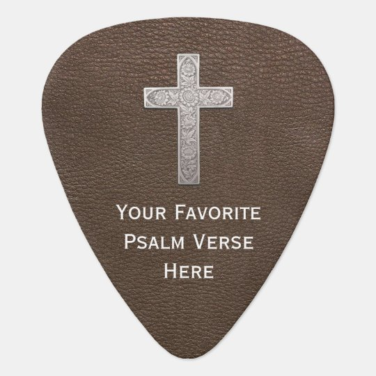 Custom-Make Psalm Metal Cross Plectrum
