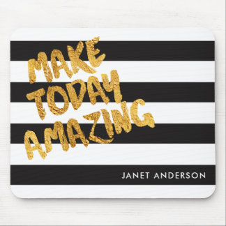 Custom Make Today Amazing Black and Gold Mouse Mat
