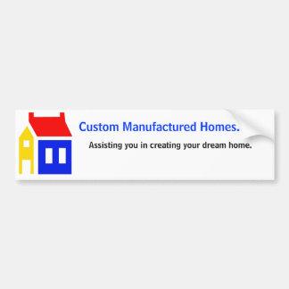 Custom Manufactured Homes. net, Bumper Sticker