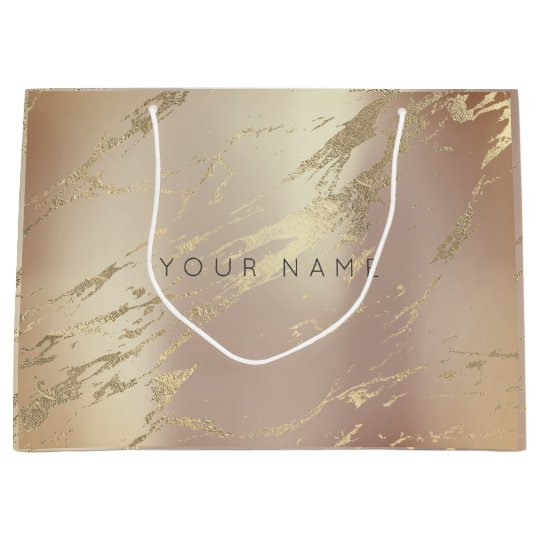 Custom Marble Gold Metallic Abstract Copper Blush Large