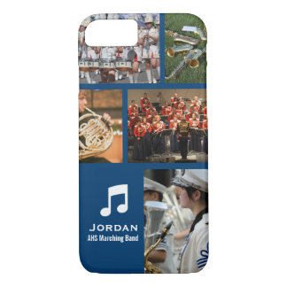 Custom Marching Band Orchestra Music Photo Collage iPhone 7 Case