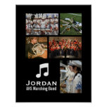Custom Marching Band Orchestra Music Photo Collage Poster