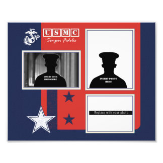 Custom Marine Corps Photo Collage