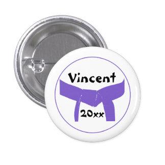 Custom Martial Arts Purple Belt Button