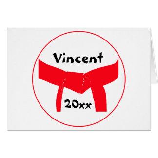 Custom Martial Arts Red Belt Greeting Card