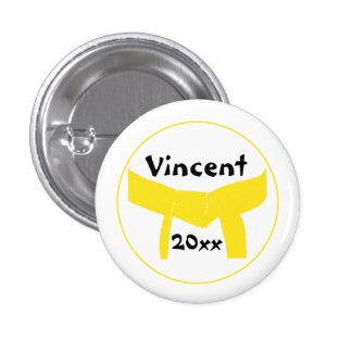 Custom Martial Arts Yellow Belt Button
