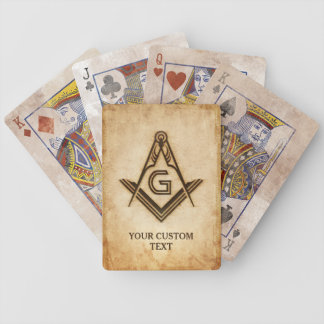 Custom Masonic Playing Cards | Freemason Gifts
