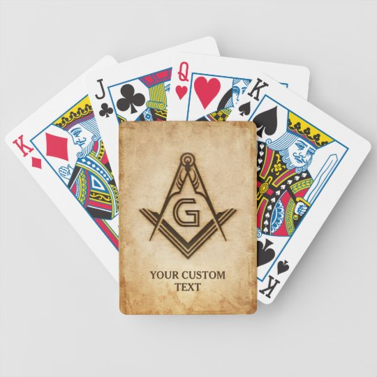 Custom Masonic Playing Cards | Freemason Gifts