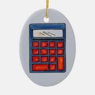 Custom Math Teacher Calculator Christmas Ornament