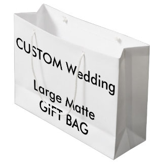 "Custom MATTE Gift Bag LARGE 12.5"" x 9"""