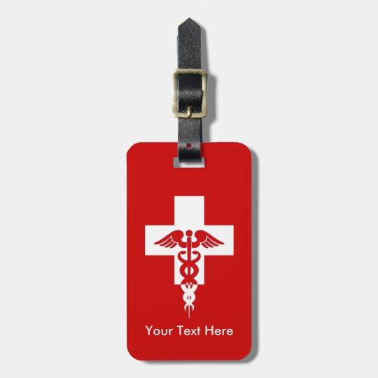 Custom Medical Professional luggage tag