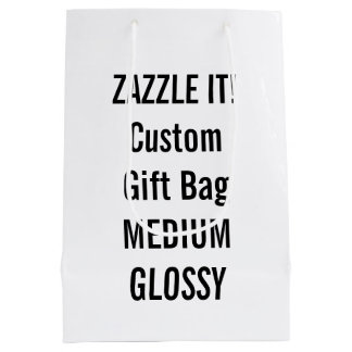 Custom MEDIUM GLOSSY Gift Bag Blank Template