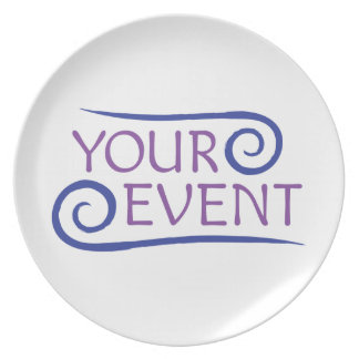 Custom Melamine Plate Event Logo Promotional