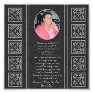 Custom Memorial Keepsakes Art Photo