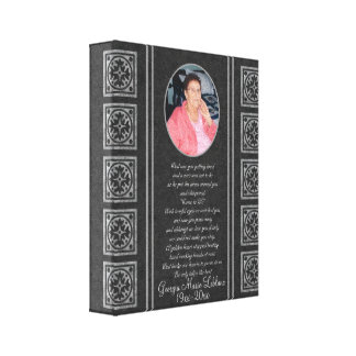 Custom Memorial Keepsakes Canvas Print