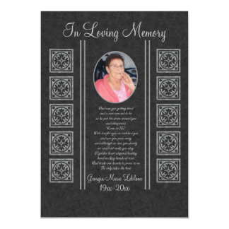 Custom Memorial Keepsakes Card