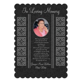Custom Memorial Keepsakes Announcements