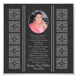 Custom Memorial Keepsakes Photographic Print
