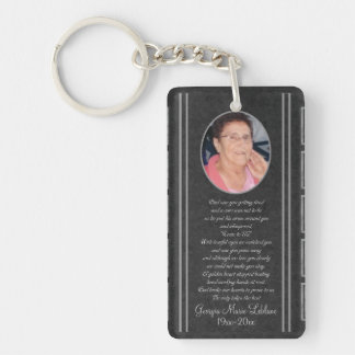 Custom Memorial Keepsakes Single-Sided Rectangular Acrylic Key Ring