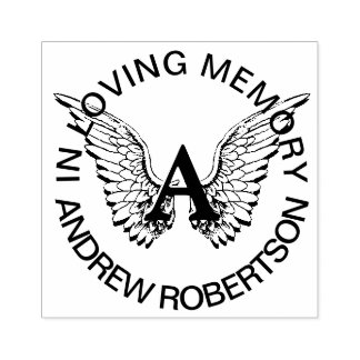 Custom Memorial Monogram Rubber Stamp