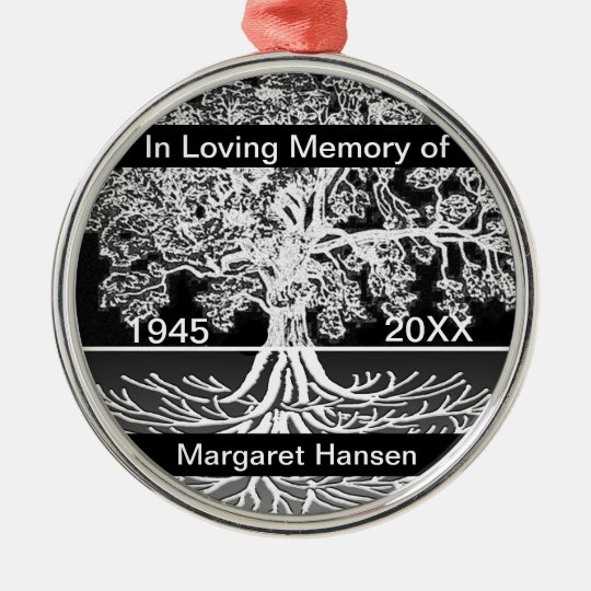 Custom Memorial | Tree of Life Silver-Colored Round