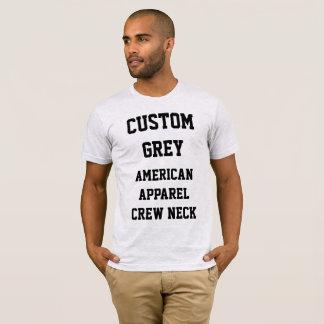 Custom Men's ASH GREY AMERICAN APPAREL T-SHIRT