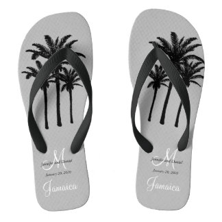 Custom Mens Beach Wedding Flip Flops