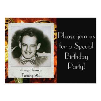 Custom Men's Birthday Party Invitation