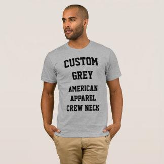 Custom Men's GREY AMERICAN APPAREL T-SHIRT