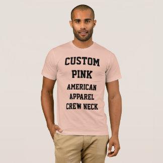Custom Men's PEACH AMERICAN APPAREL T-SHIRT