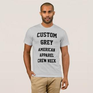 Custom Men's SILVER GREY AMERICAN APPAREL T-SHIRT