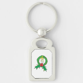 Custom Merry Christmas Candle Wreath Sticker Bags Key Chains