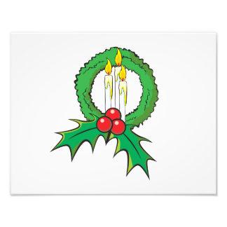 Custom Merry Christmas Candle Wreath Wrapper Mugs Photograph