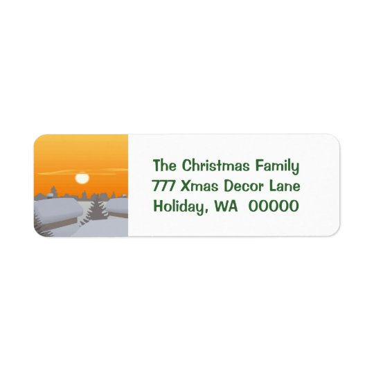 Custom Merry Christmas Envelopes Address Stickers