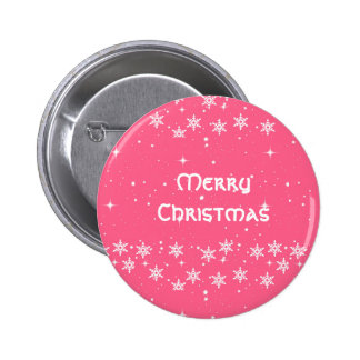 Custom Merry Christmas Holiday Pinback Buttons