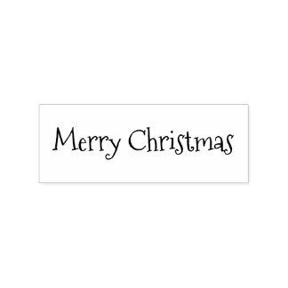 Custom Merry Christmas Holiday Seasons Greetings Rubber Stamp