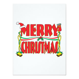 Custom Merry Christmas Invitation Card Stamp Label