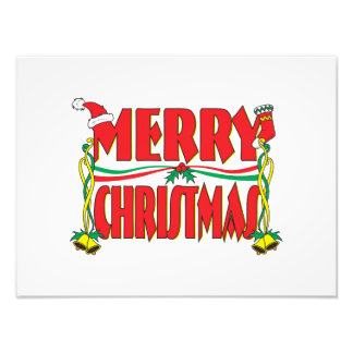 Custom Merry Christmas Invitation Card Stamp Label Photo