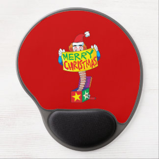 Custom Merry Christmas Jack in a Box Wind Up Cards Gel Mousepads