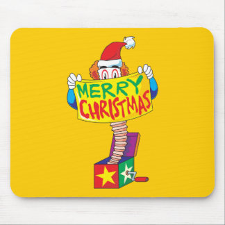 Custom Merry Christmas Jack in a Box Wind Up Cards Mouse Pads