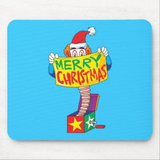 Custom Merry Christmas Jack in a Box Wind Up Cards Mousepads