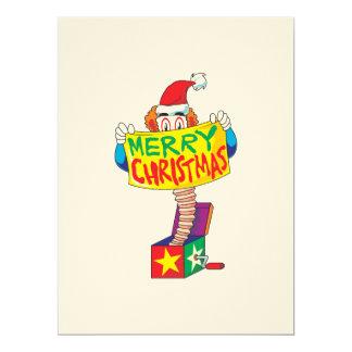 Custom Merry Christmas Jack in a Box Wind Up Toy 17 Cm X 22 Cm Invitation Card