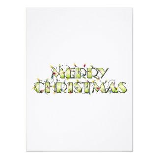 Custom Merry Christmas Lights Invitations Postage