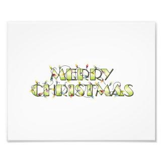 Custom Merry Christmas Lights Invitations Postage Art Photo