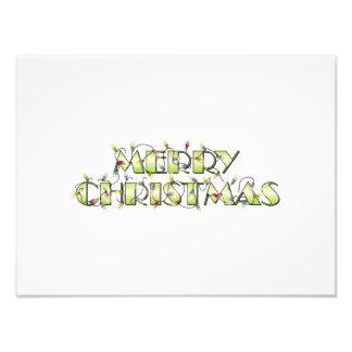Custom Merry Christmas Lights Invitations Postage Photographic Print