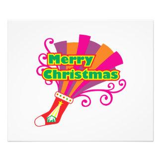 Custom Merry Christmas Red Stocking Invitations Photo Art